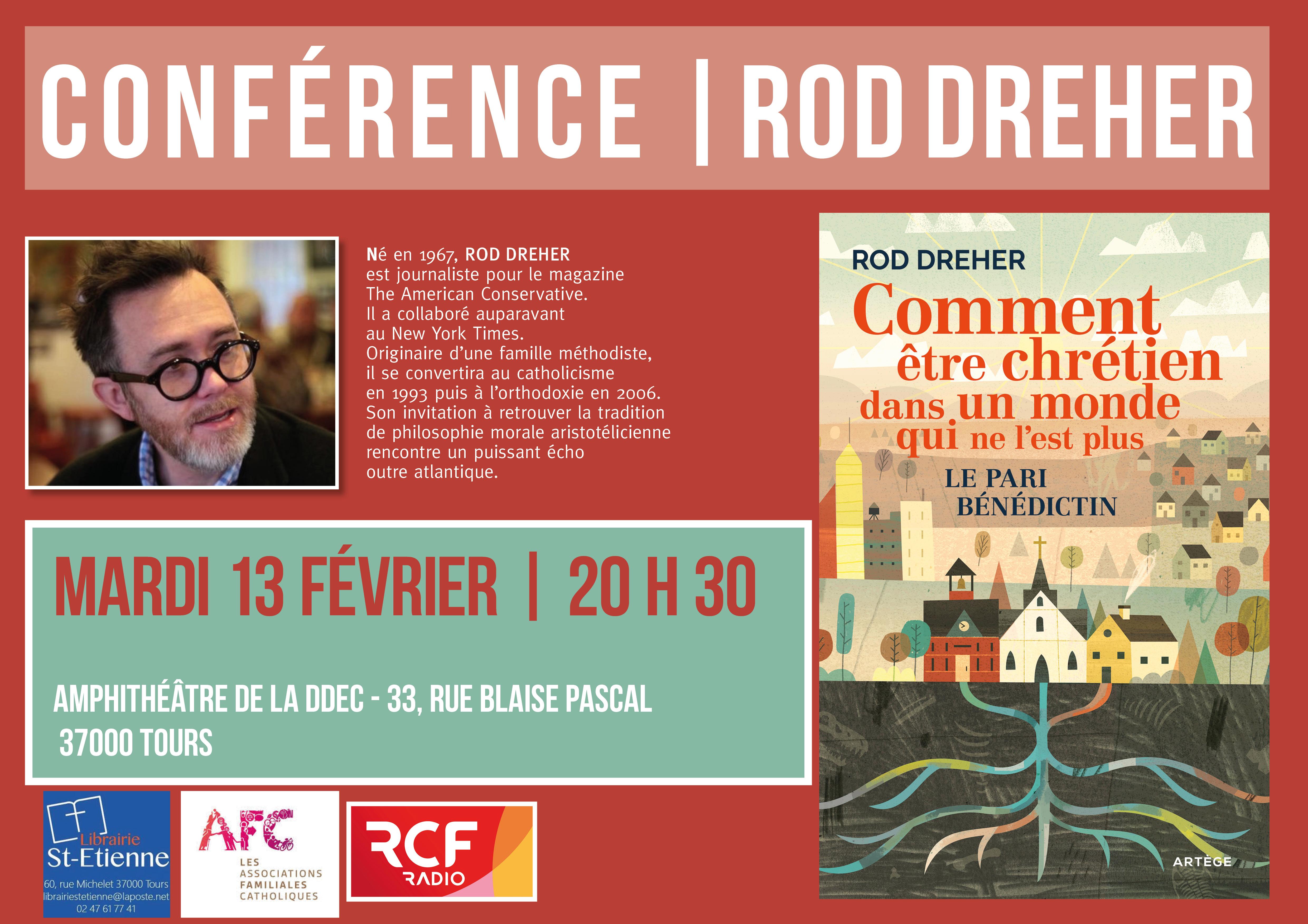 Affiche_Dreher_comment_etre_chretien_conf 13 février _Tours