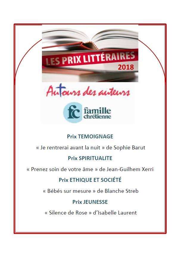 """gagnants du prix """"AuTours des Auteurs 2018"""""""
