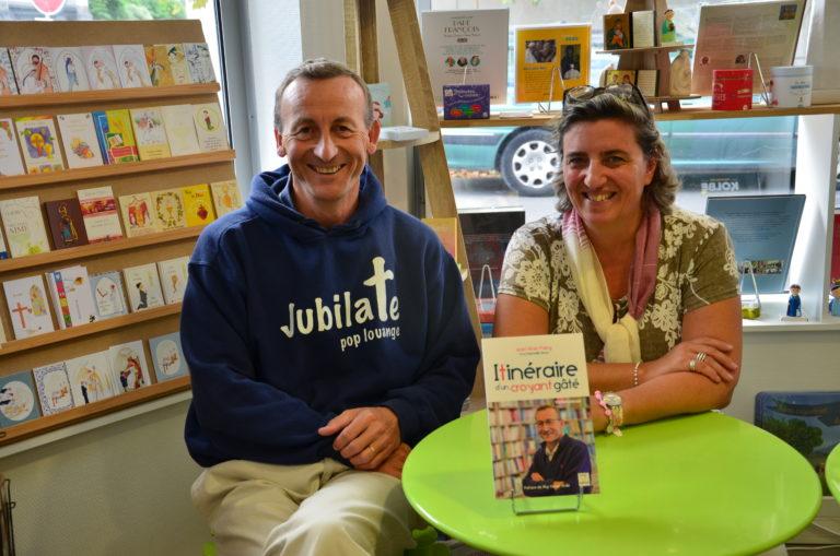 dédicace Laurent Bidot et Raphaëlle Simon à la librairie St Etienne de Tours